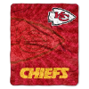 NFL Kansas City Chiefs Sherpa STROBE 50x60 Throw Blanket