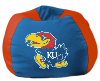 NCAA Kansas Jayhawks Bean Bag Chair