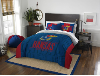 NCAA Kansas Jayhawks QUEEN Comforter and 2 Shams