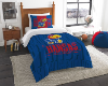 NCAA Kansas Jayhawks Twin Comforter Set