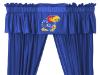 NCAA Kansas Jayhawks Valance - Locker Room Series