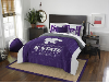 NCAA Kansas State Wildcats QUEEN Comforter and 2 Shams