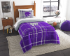 NCAA Kansas State Wildcats Twin Comforter with Sham