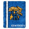 NCAA Kentucky Wildcats Sherpa 50x60 Throw Blanket