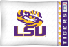 NCAA LSU Tigers Micro Fiber Pillow Cases (set of 2)
