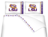 NCAA LSU Tigers Micro Fiber Bed Sheets
