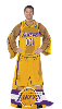 NBA Los Angeles Lakers Uniform Huddler Blanket With Sleeves