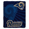 NFL Los Angeles Rams Sherpa STROBE 50x60 Throw Blanket