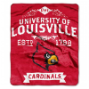 NCAA Louisville Cardinals 50x60 Raschel Throw Blanket