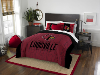 NCAA Louisville Cardinals QUEEN Comforter and 2 Shams