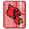 NCAA Louisville Cardinals FOCUS 48x60 Triple Woven Jacquard Throw