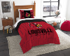 NCAA Louisville Cardinals Twin Comforter Set