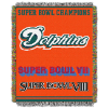 NFL Miami Dolphins Commemorative 48x60 Tapestry Throw