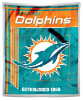NFL Miami Dolphins Sherpa MINK 50x60 Throw Blanket