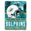 NFL Miami Dolphins 60x80 Silk Touch Raschel Throw Blanket
