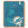 NFL Miami Dolphins SPIRAL 48x60 Triple Woven Jacquard Throw