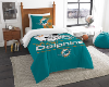 NFL Miami Dolphins Twin Comforter Set