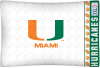 NCAA Miami Hurricanes Micro Fiber Pillow Cases (set of 2)