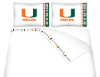 NCAA Miami Hurricanes Micro Fiber Bed Sheets