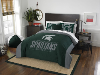 NCAA Michigan State Spartans QUEEN Comforter and 2 Shams