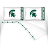 NCAA Michigan State Spartans Micro Fiber Bed Sheets