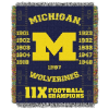 NCAA Michigan Wolverines Commemorative 48x60 Tapestry Throw