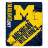 NCAA Michigan Wolverines 50x60 Fleece Throw Blanket