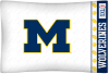 NCAA Michigan Wolverines Micro Fiber Pillow Cases (set of 2)