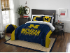 NCAA Michigan Wolverines QUEEN Comforter and 2 Shams