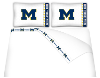 NCAA Michigan Wolverines Micro Fiber Bed Sheets