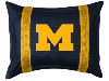NCAA Michigan Wolverines Pillow Sham - Sidelines Series