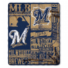 MLB Milwaukee Brewers 50x60 Fleece Throw Blanket