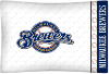 MLB Milwaukee Brewers Micro Fiber Pillow Cases (set of 2)