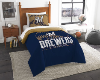 MLB Milwaukee Brewers Twin Comforter Set