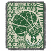 NBA Milwaukee Bucks 48x60 Triple Woven Jacquard Throw