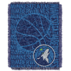 NBA Minnesota Timberwolves 48x60 Triple Woven Jacquard Throw