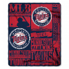 MLB Minnesota Twins 50x60 Fleece Throw Blanket
