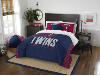 MLB Minnesota Twins QUEEN Comforter and 2 Shams