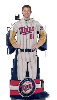 MLB Minnesota Twins Uniform Huddler Blanket With Sleeves