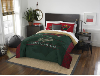 NHL Minnesota Wild QUEEN Comforter and 2 Shams