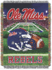 NCAA Mississippi Rebels Home Field Advantage 48x60 Tapestry Throw