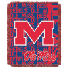 NCAA Mississippi Rebels FOCUS 48x60 Triple Woven Jacquard Throw