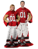 NCAA NC State Wolfpack Uniform Huddler Blanket With Sleeves