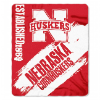 NCAA Nebraska Cornhuskers 50x60 Fleece Throw Blanket