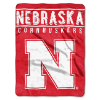 NCAA Nebraska Cornhuskers 60x80 Super Plush Throw