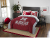 NCAA Nebraska Cornhuskers QUEEN Comforter and 2 Shams