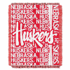 NCAA Nebraska Cornhuskers FOCUS 48x60 Triple Woven Jacquard Throw