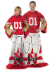 NCAA Nebraska Cornhuskers Uniform Huddler Blanket With Sleeves