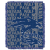 NCAA Nevada Wolfpack FOCUS 48x60 Triple Woven Jacquard Throw