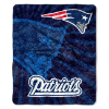 NFL New England Patriots Sherpa STROBE 50x60 Throw Blanket